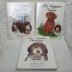 (3) Signed Dog Book Series Richard L. Stack